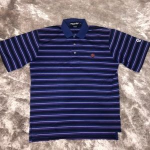 POLO GOLF Ralph Lauren Purple Striped Polo Shirt
